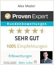 Erfahrungen & Bewertungen zu Alex Moder